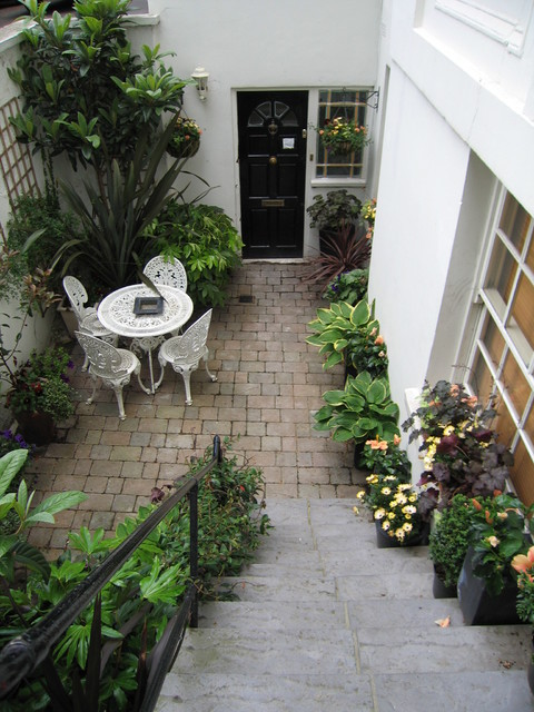 basement garden transitional patio london by silva