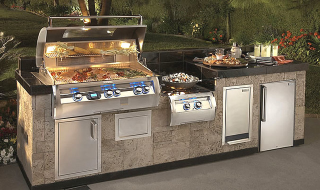 A Complete Fire Magic Outdoor Kitchen With Power Burner