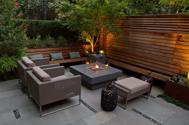 A Family Friendly Brownstone Garden contemporary-courtyard
