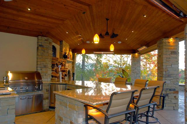 A Large Hillside Pavilion - Walnut Creek, CA mediterranean-patio