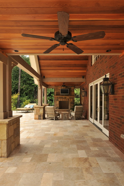 A New Pool house traditional-patio