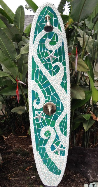 Abstract Outdoor Shower Tropical Patio Hawaii By