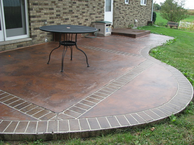 acid stained overlay contemporary-patio