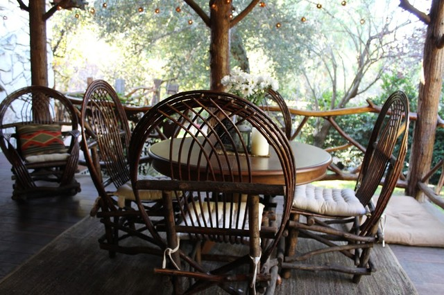 Adirondack Style Lodge Rustic Patio Los Angeles By