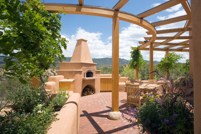 Adobe Home In New Mexico Southwestern Patio