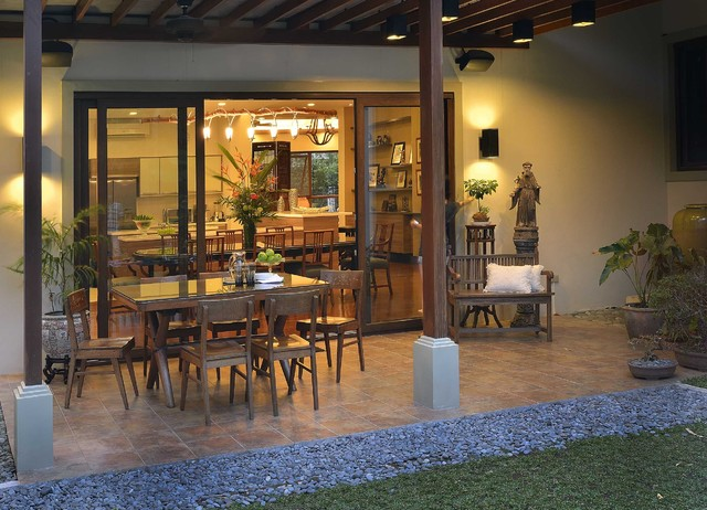Alabang house asian patio other by design hq for Small lanai decorating ideas