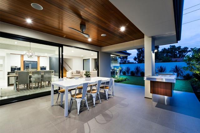 Alfresco With Timber Feature Ceiling Contemporary Patio Perth By Cedar West Pty Ltd