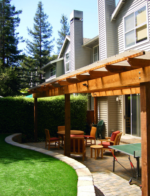 All-Season Covered Back Patio contemporary-courtyard - All-Season Covered Back Patio - Contemporary - Courtyard - San