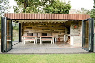 All weather braai bbq contemporary patio other - Coleman small spaces bbq decoration ...