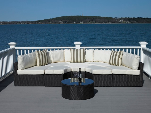 all weather wicker outdoor furniture patio boston by madbury