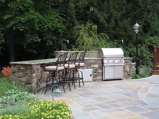 Alpine nj custom outdoor kitchen patio design for Outdoor kitchen designs nj