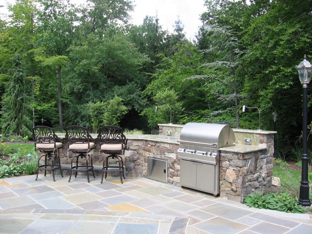 alpine nj natural outdoor kitchen patio design nj