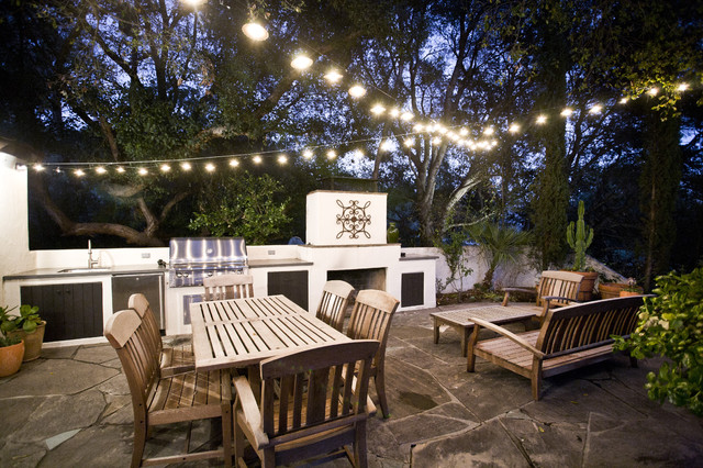 Alta Canyada BBQ Patio Contemporary Patio Los Angeles By - Lighting for patio