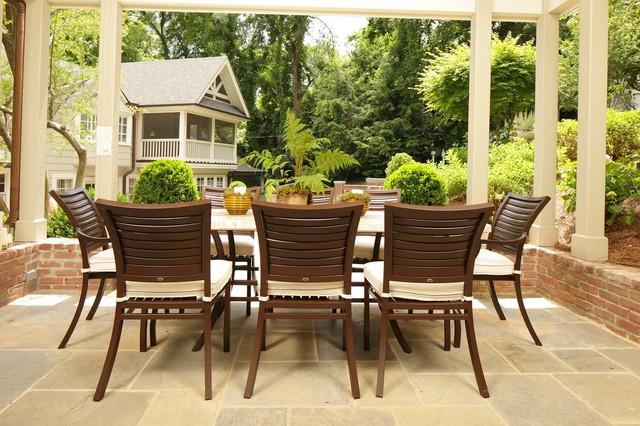 Aluminum outdoor dining set traditional patio for Outdoor furniture birmingham al