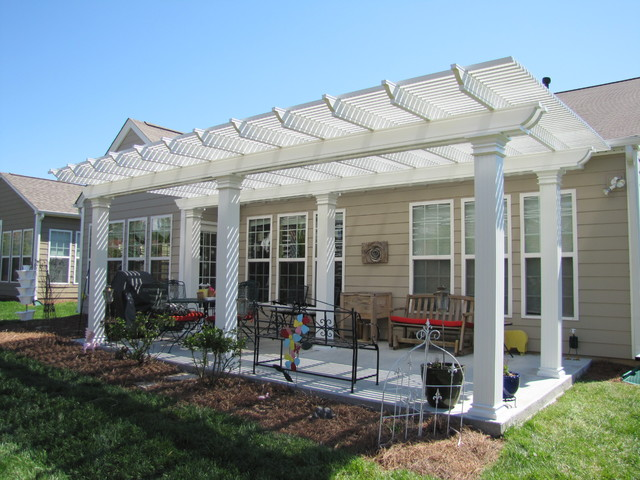Aluminum pergola traditional patio other metro by nexan building products inc for Pergola aluminium design