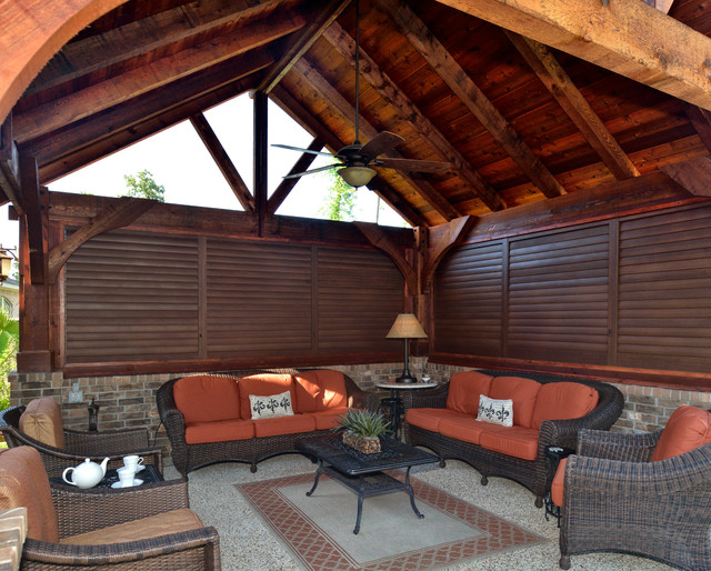 Ordinaire Aluminum Shutters For Outdoor Living Spaces Transitional Patio