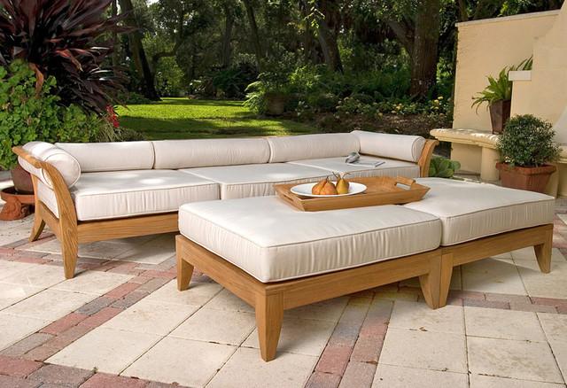 High Quality Aman Dais 3pc Sofa Set Transitional Patio