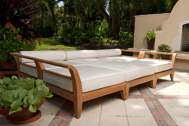 aman dais teak patio daybed contemporary patio orange county by westminster teak. Black Bedroom Furniture Sets. Home Design Ideas