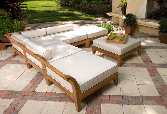 Westminster Teak Furniture U0026 Accessories. Aman Dais 6pc Sectional  Transitional Patio Part 56