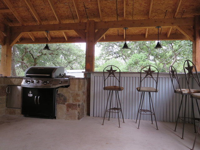 Ammann Rd - Outdoor Kitchen - Rustic - Patio - Austin - by Boerne Kitchens and Baths