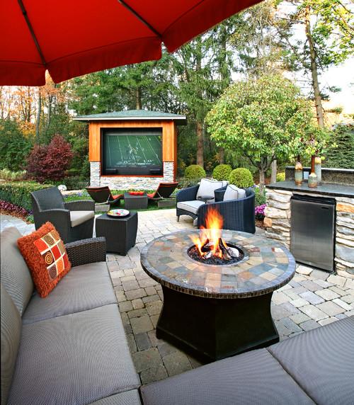 outdoor football tv patio