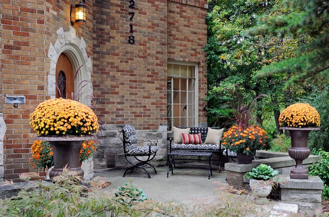 Ann Arbor Tudor Traditional Patio Detroit By Laura