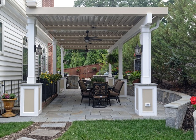 Annandale Freestanding Equinox Adjustable Roof Over Patio (Roof Closed)  Traditional Patio