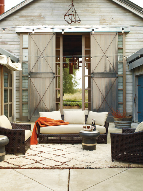 This is an example of a country courtyard patio in San Francisco with no  cover. Email Save. McGuire Furniture Company - Antalya Outdoor Collection - Country - Patio - San Francisco - By