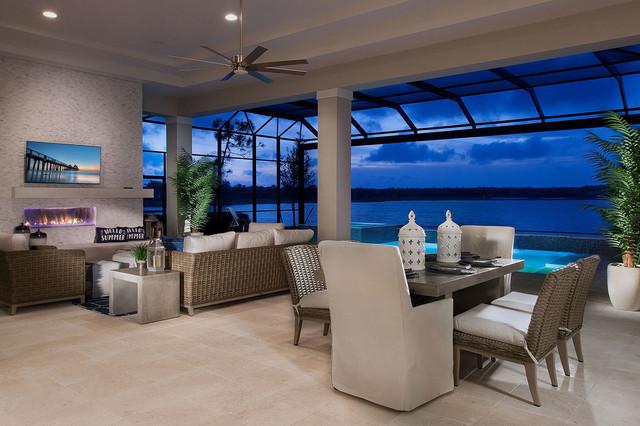 Antigua House Plan-Custom Design, Naples, Florida contemporary-patio