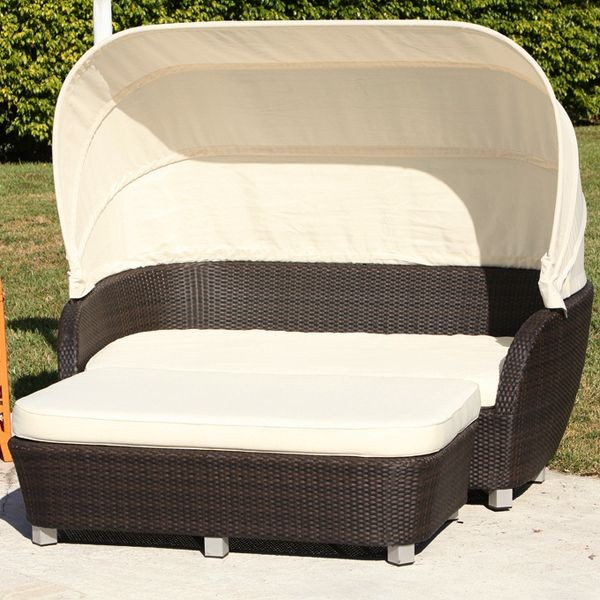 Antiqua Outdoor Wicker Daybed Outdoor Chaise Lounges Chicago By Home In