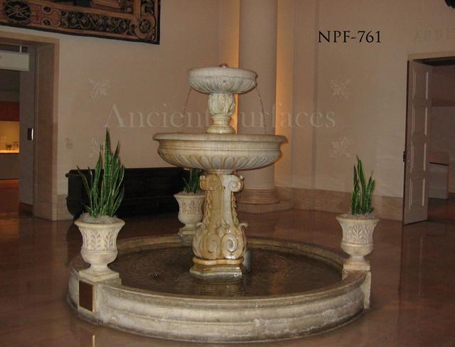 Antique pool Fountains mediterranean-patio