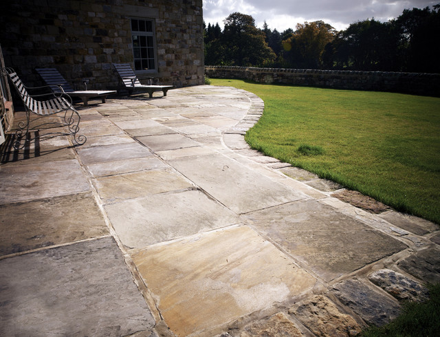 Antique Reclaimed York Stone Flags Traditional Patio