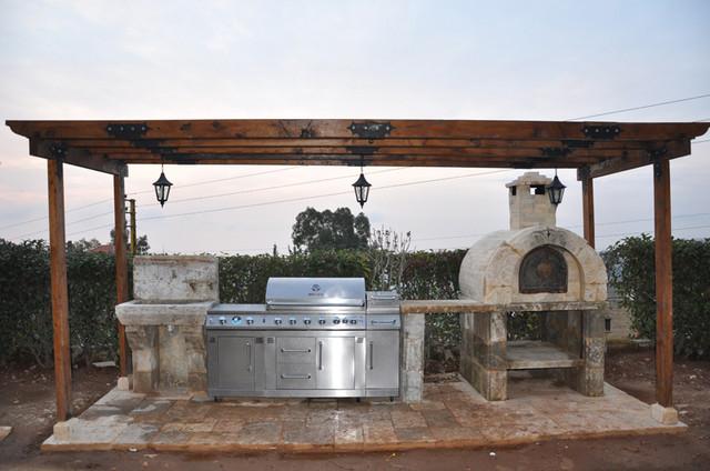 antique slabs quot butcher blocks quot mediterranean patio