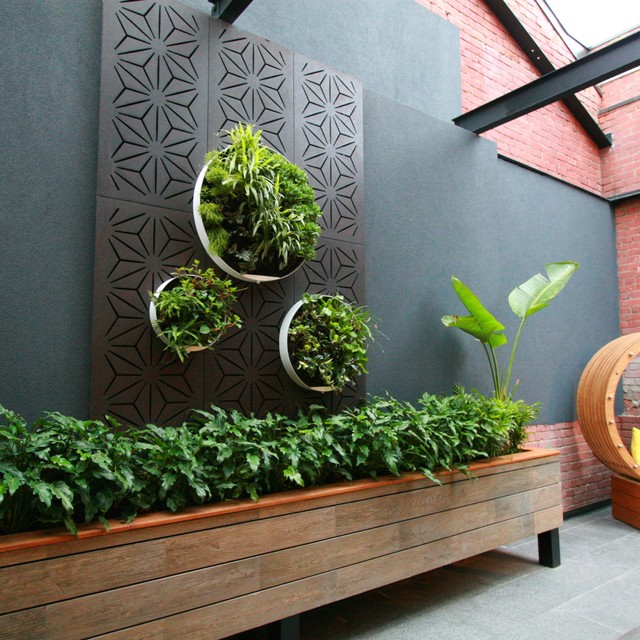 Apartment Renovation of outdoor living space - Industrial ... on Houzz Outdoor Living Spaces id=29923