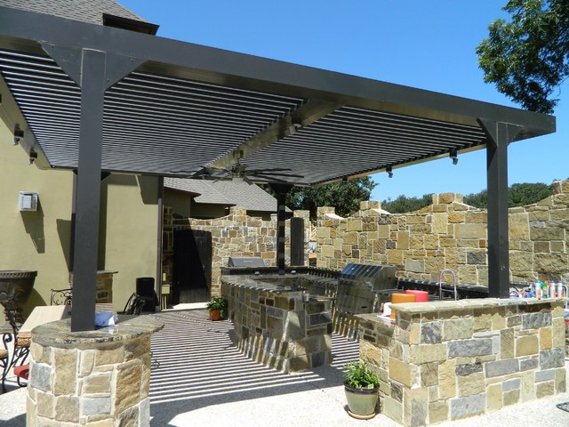 Beautiful Arcadia Louvered Roof   Installed Units Modern Patio