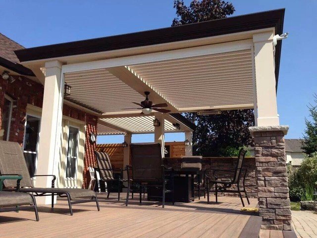 Arcadia Louvered Roof: variety of installation types - Contemporary - Patio - other metro - by ...