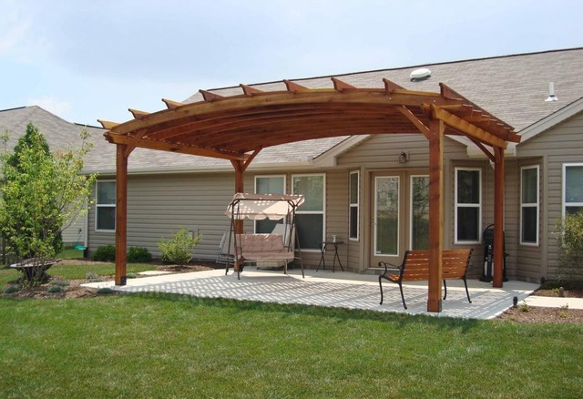 Arched Pergola Traditional Patio Other By Forever