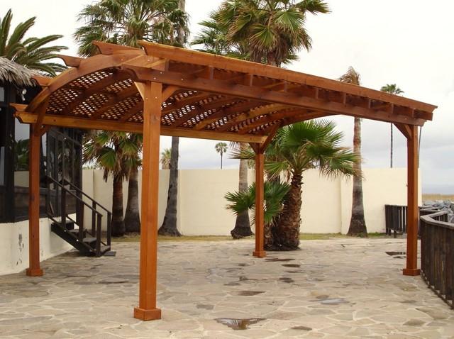 Arched Pergola traditional-exterior