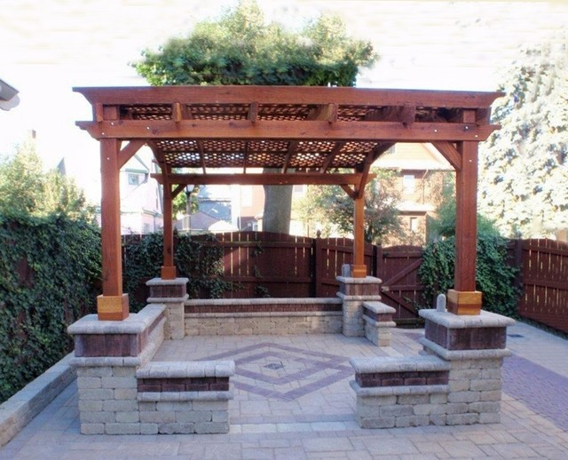 arched pergola traditional patio other metro by