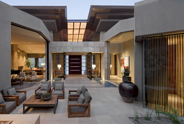 Architect: Jon C Bernhard southwestern-patio
