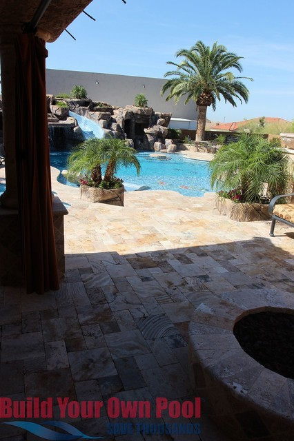 Arizona swimming pool and grotto designed by build your for Swimming pool grotto design