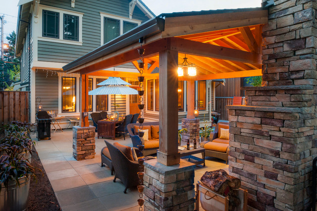Armstrong property traditional patio portland by for Paradise restored landscaping exterior design