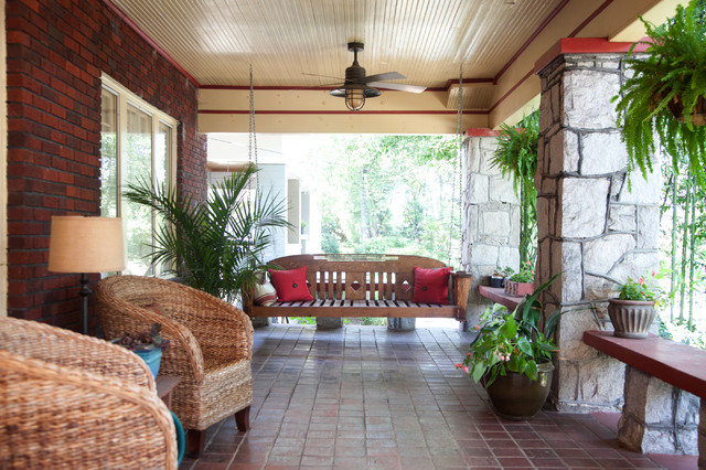 Arts Crafts Remodel Traditional Patio Atlanta By Copper - Remodel patio