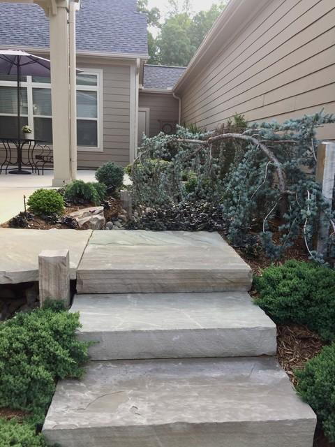 Patio - asian patio idea in Charlotte