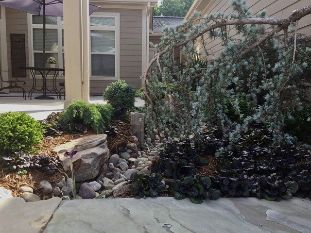 Inspiration for an asian patio remodel in Charlotte