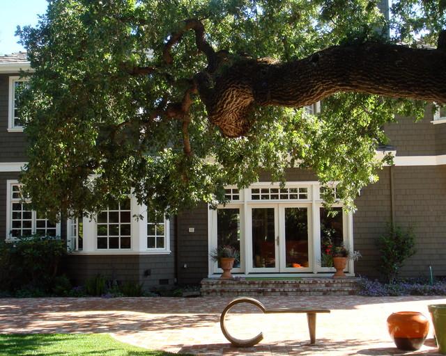 Atherton garden modern-exterior