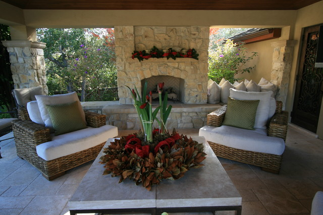 Atherton Holiday House Tour traditional-patio