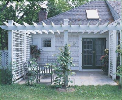 Attached Pergola traditional-patio