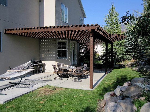 Attached pergola wilson residence contemporary patio salt lake