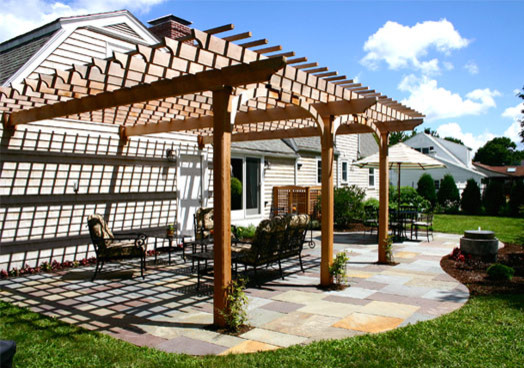 Attached Pergolas - Traditional - Patio - Boston - by ...